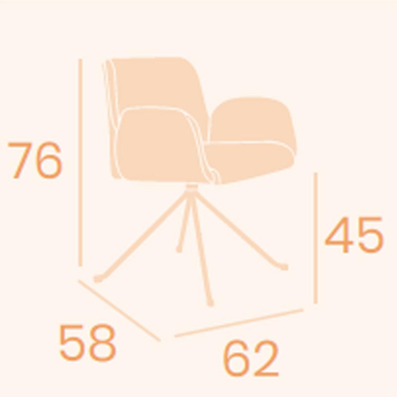 Dimensiones sillón Lugano B-5 REYMA
