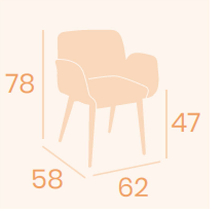 Dimensiones sillón Lugano C-4 REYMA