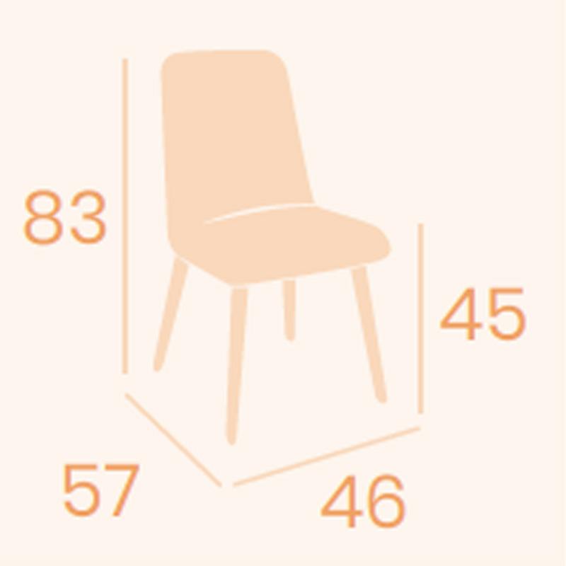 Dimensions chaise Murano REYMA