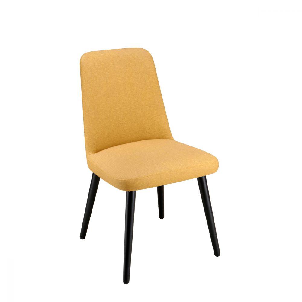 silla Murano tapizado color mostaza