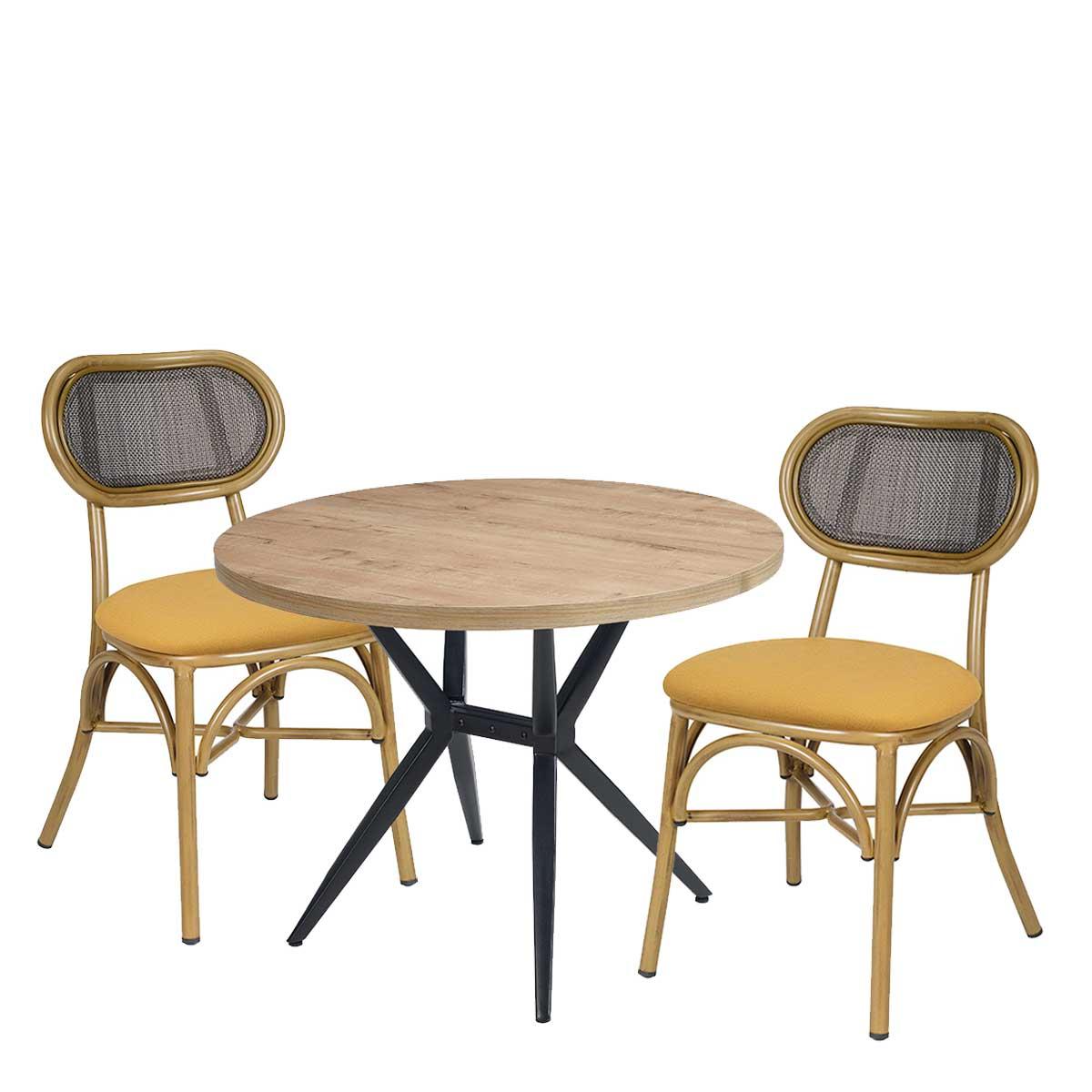 conjunto silla verdi bambú con mesa alaska REYMA