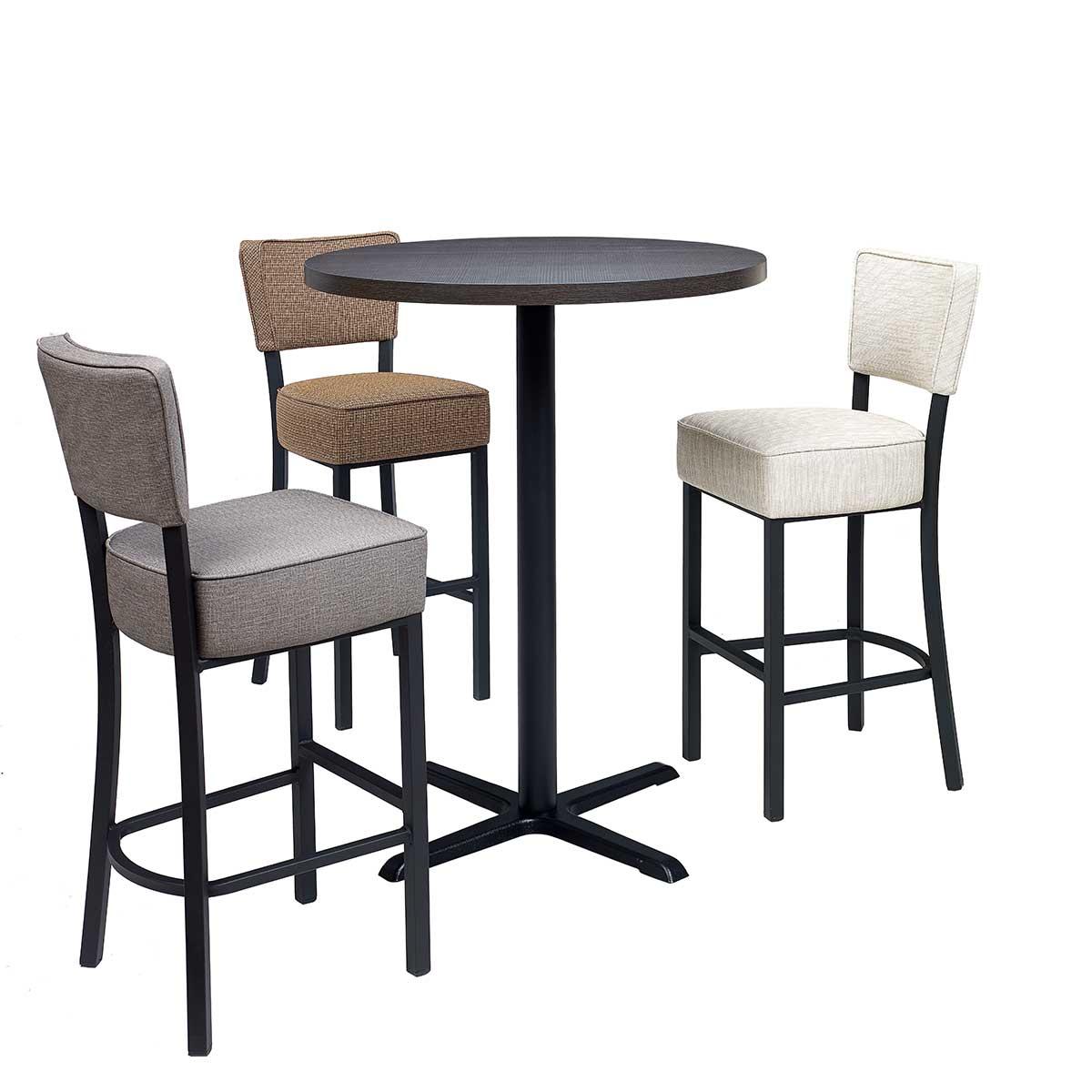 conjunto banquetas bohemia con mesa michigan alta