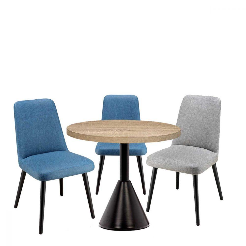 conjunto sillas murano con mesa columbia REYMA