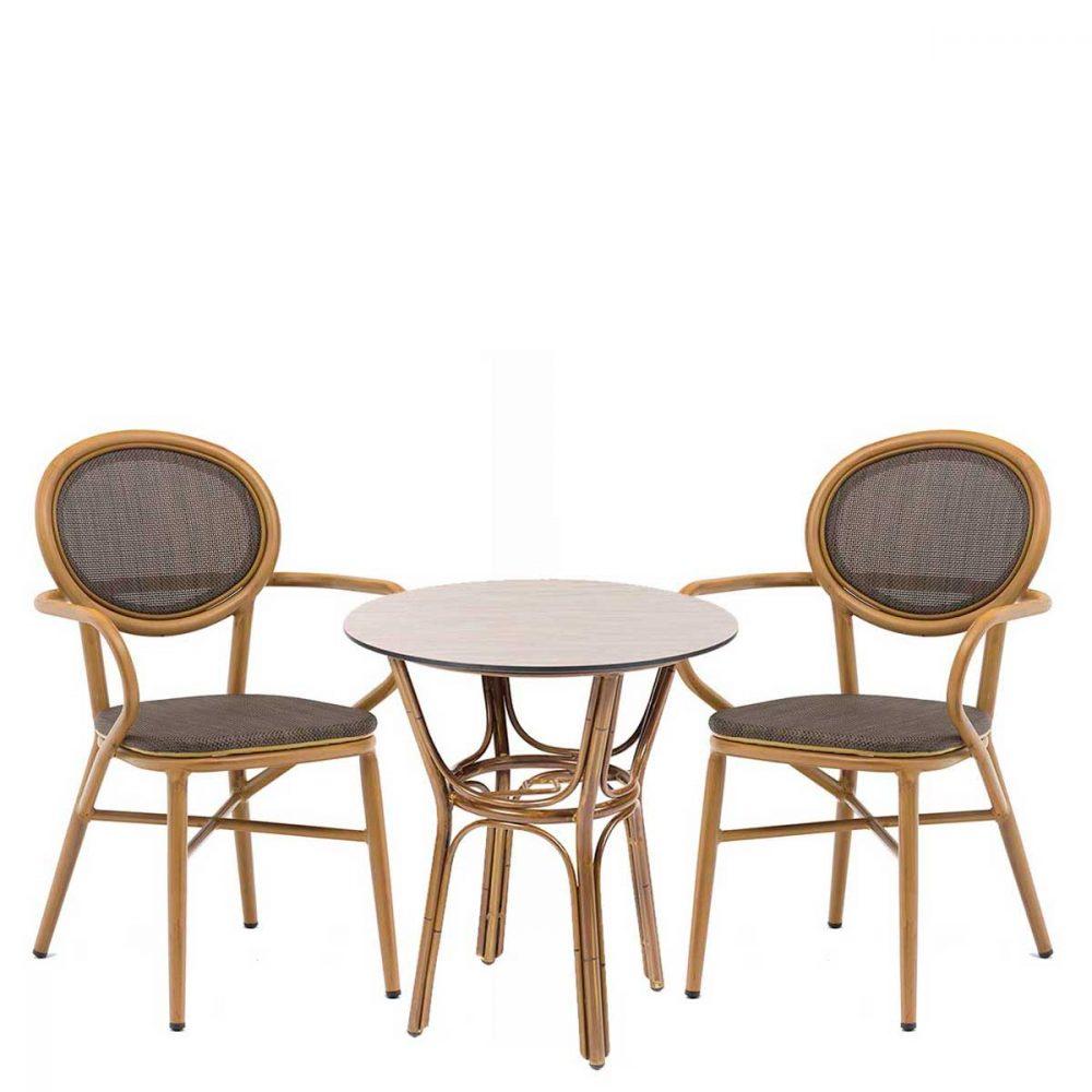 Conjunto Fontana con mesa manila REYMA