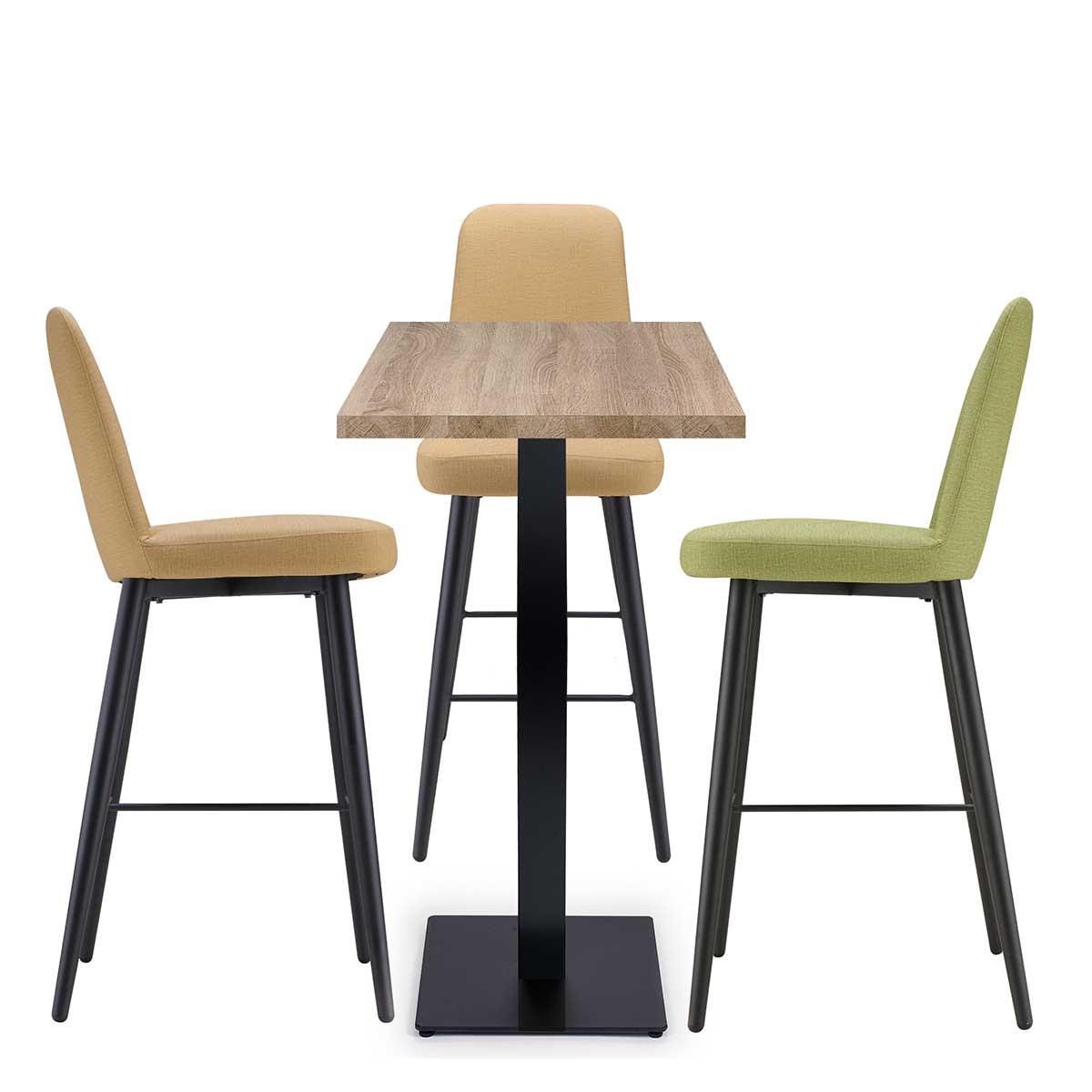 conjunto de banquetas murano con mesa baviera REYMA