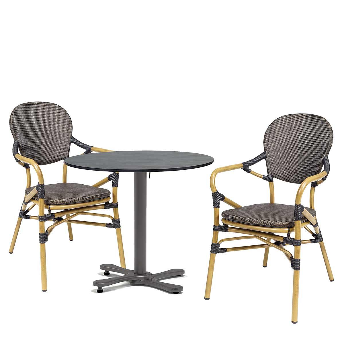conjunto sillón orleans textilene negro REYMA