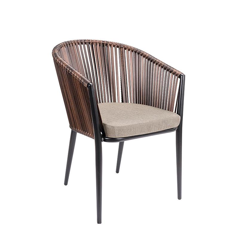 sillón pravia medula marrón con cojin