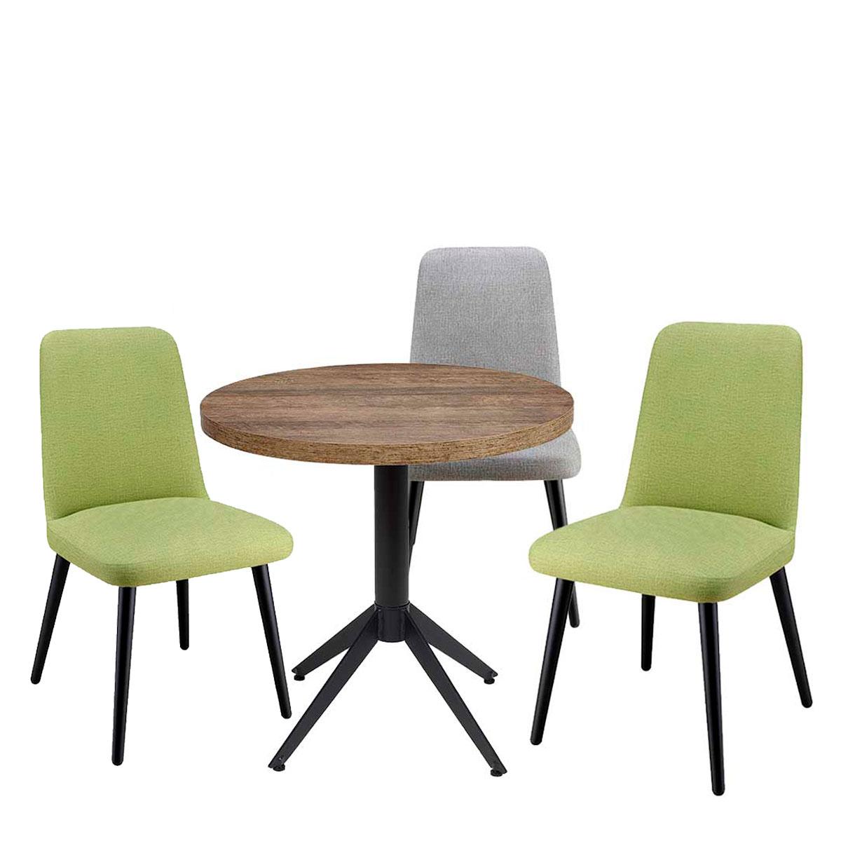 conjunto milano con sillas murano verdes y gris
