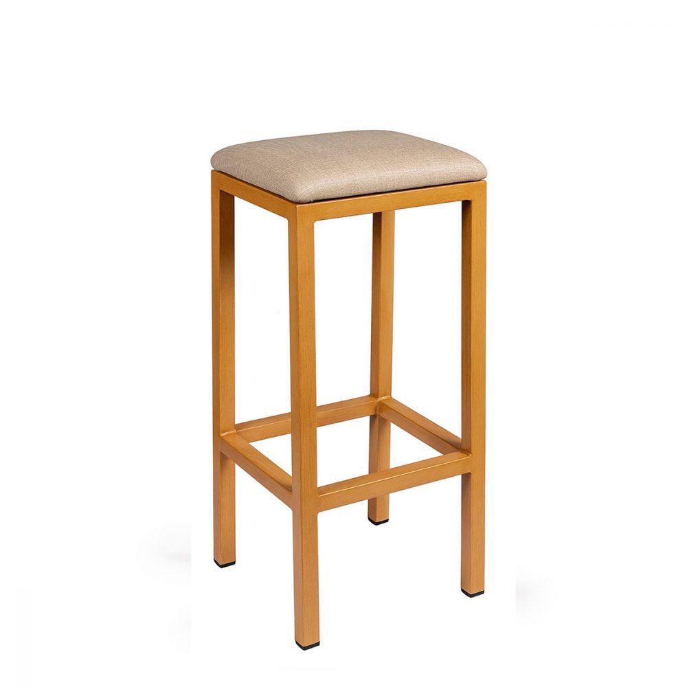 Banqueta mónaco plus pintada deco madera natural asiento tapizado sándalo