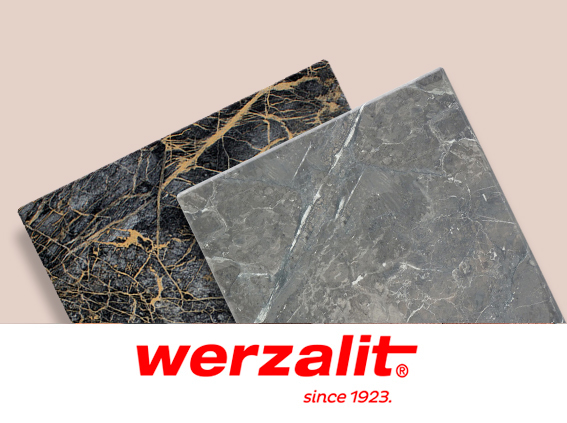 Werzalit SM France tabletops at Reyma