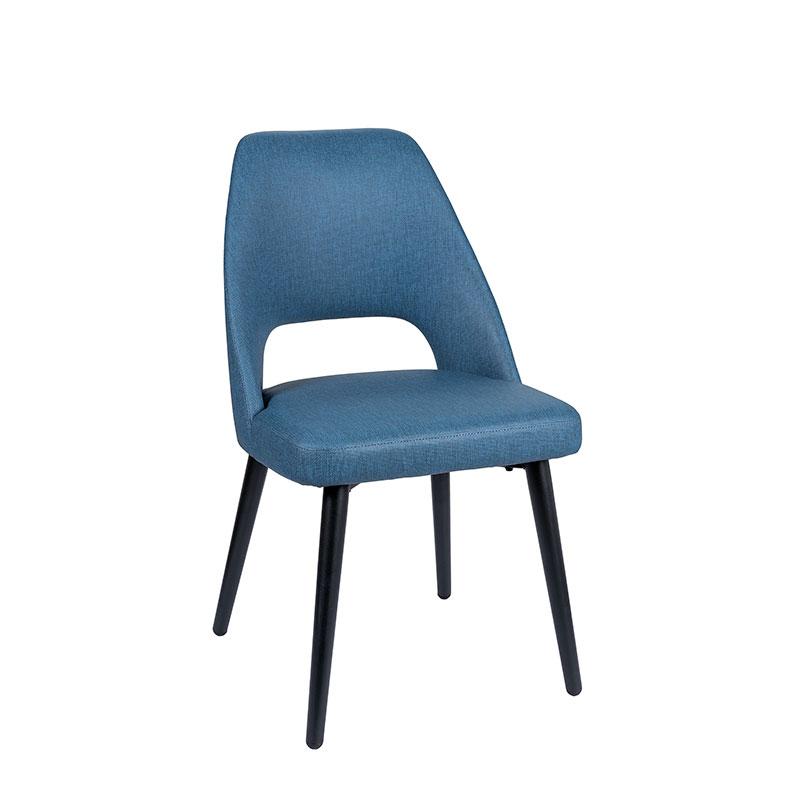 silla arona tapizado azul REYMA