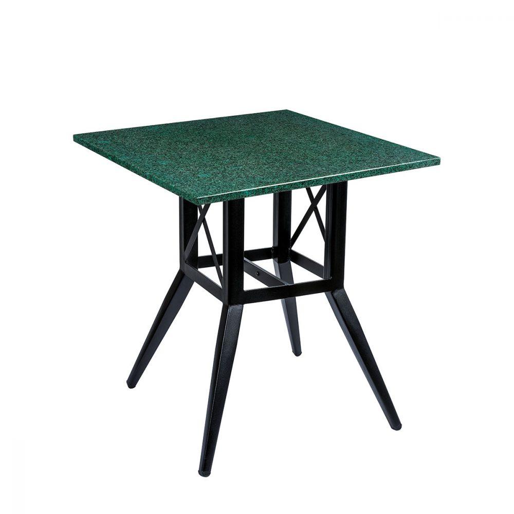 mesa bering ocn tablero cuadrado de piedra verde REYMA