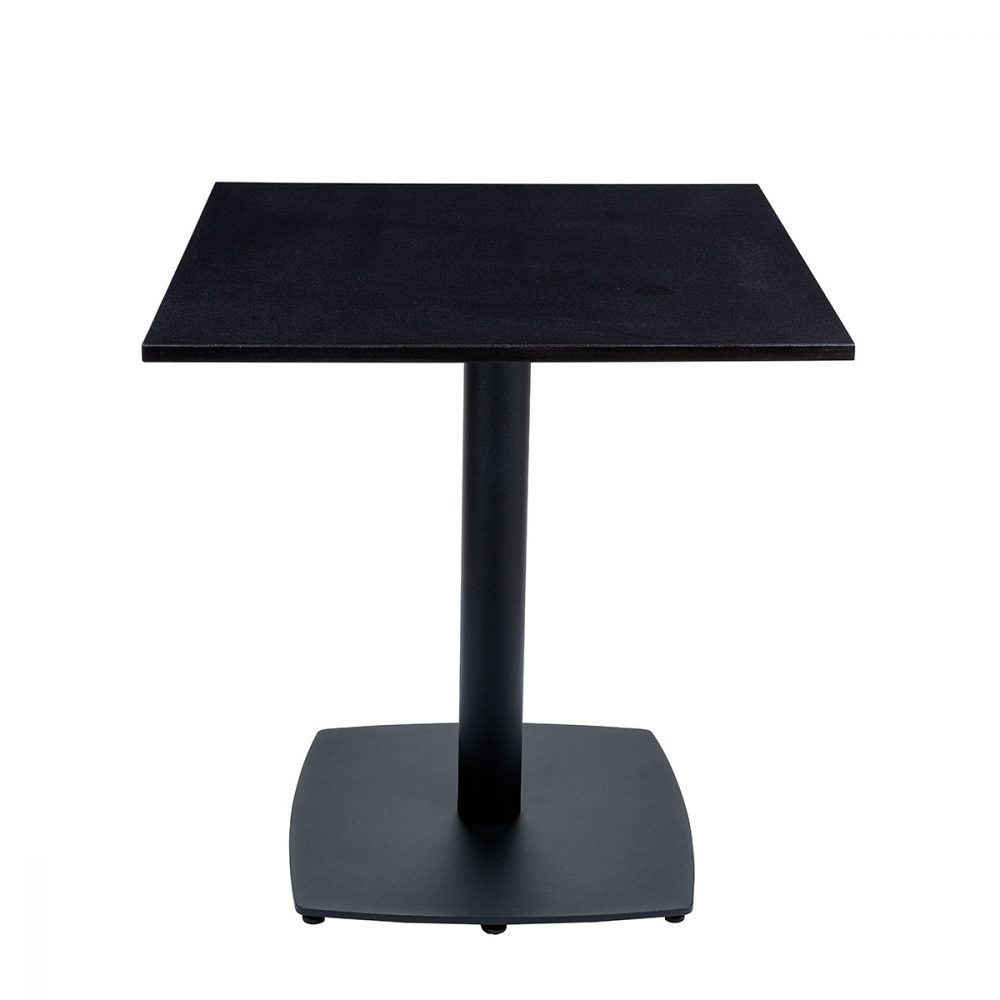 mesa hanover tablero cuadrado piedra negra