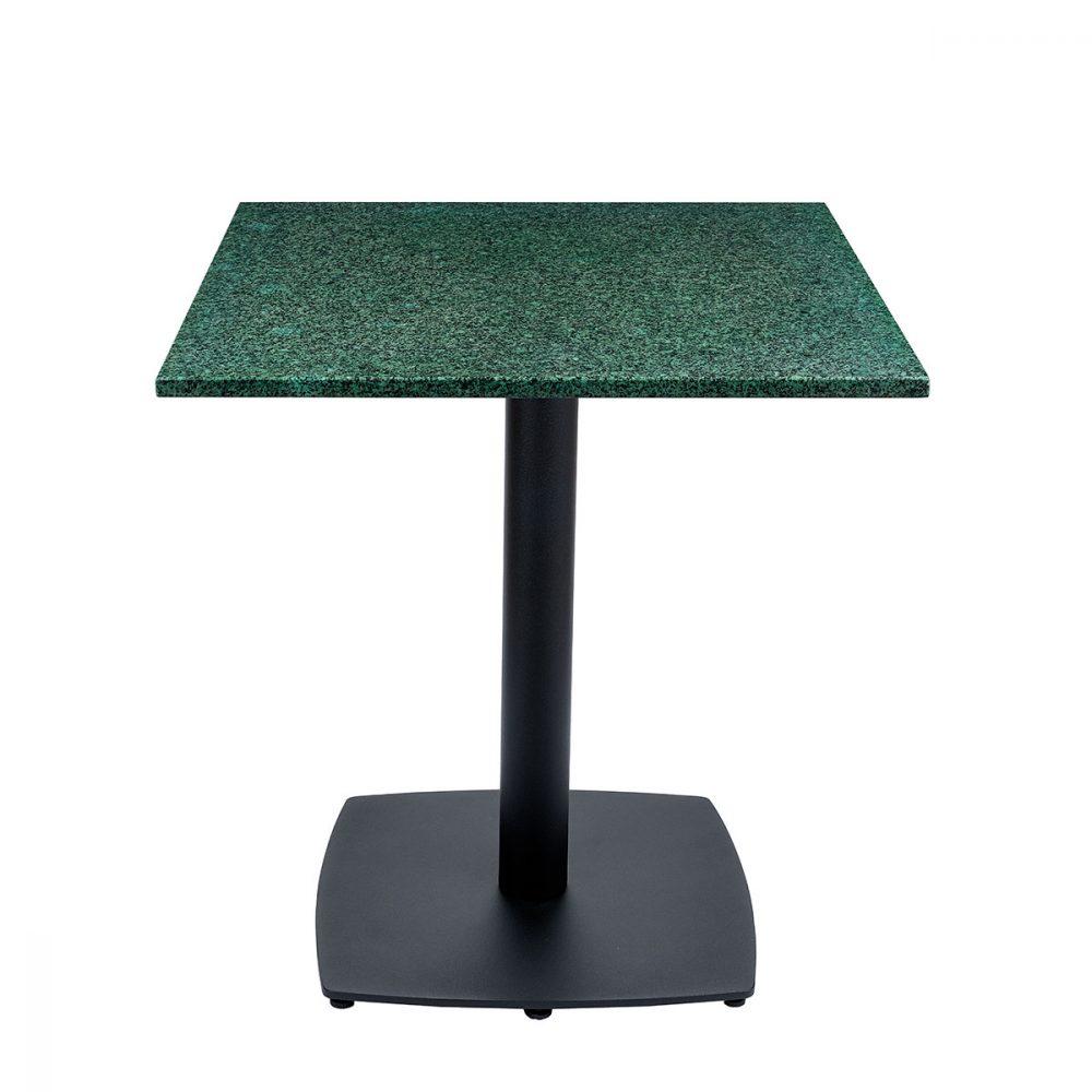 mesa hanover tablero cuadrado piedra verde
