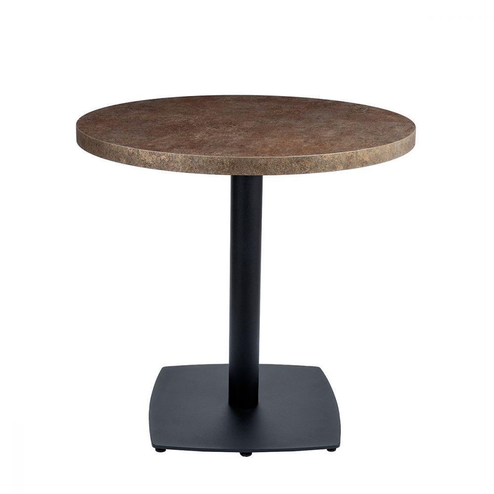 mesa hanover tablero redondo bronce