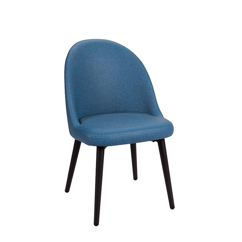 silla como tapizado azul REYMA