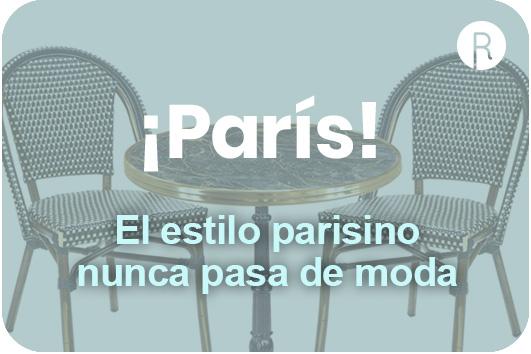mobiliario para terraza estilo parisino
