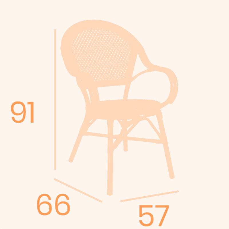 Dimensiones sillón anna REYMA
