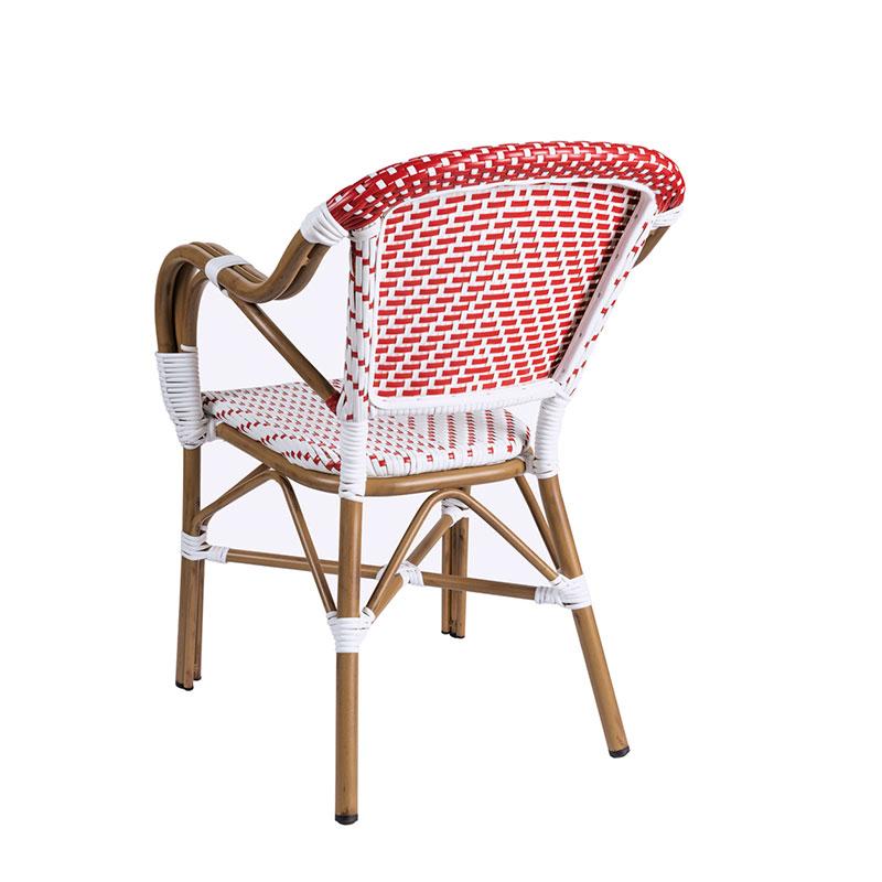 sillon biarritz medula blanco y rojo espalda