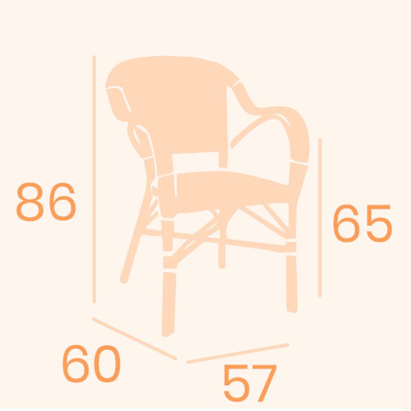 Dimensions fauteuil biarritz REYMA