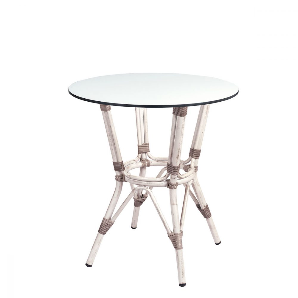 mesa martinica redondo compact blanco
