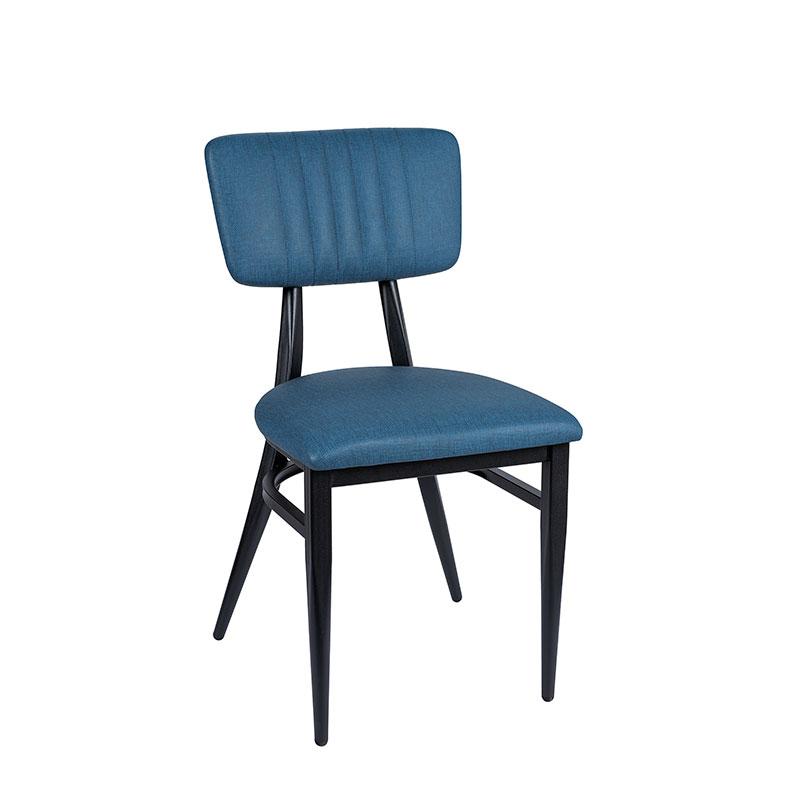 Silla montana respaldo tapizado azul