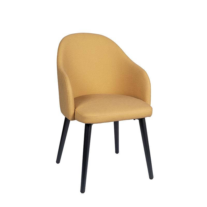 sillón monza tapizado mostaza