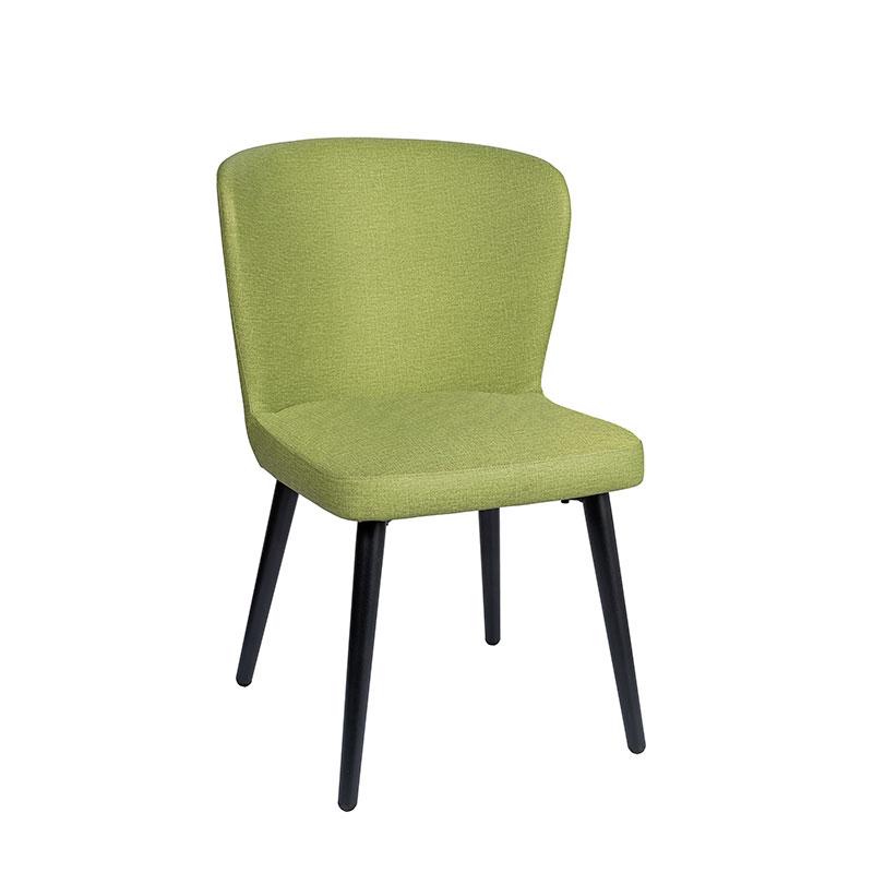 Silla Véneto tapizado verde