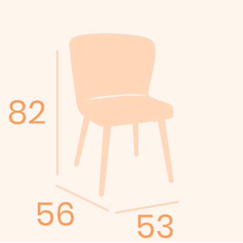 Dimensions de la chaise Veneto REYMA